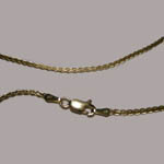 14 kt.y.g. clasp of Flat Wheat chain