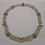 Sterling Silver horsehead collar necklace