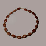 14 kt.y.g. Goldstone bead necklace