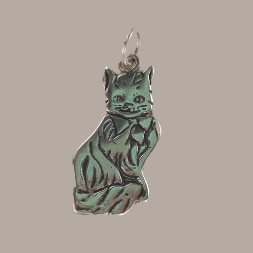Sterling Silver Maine Coon cat charm/pendant