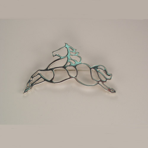 Sterling Silver horse silhouette brooch