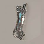 Sterling Silver leaping cat pin/pendant