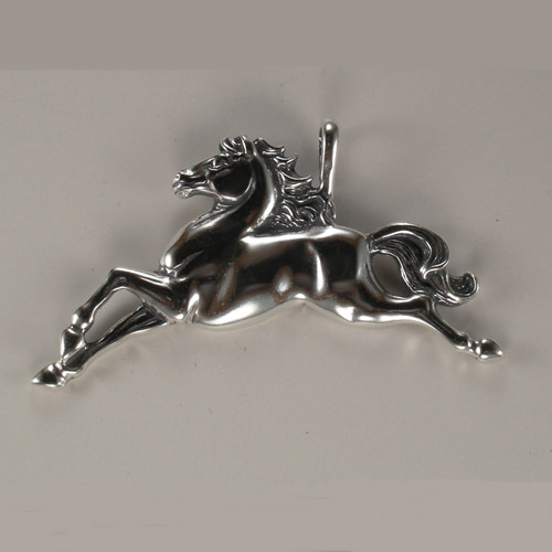 Sterling Silver fanciful galloping horse pendant
