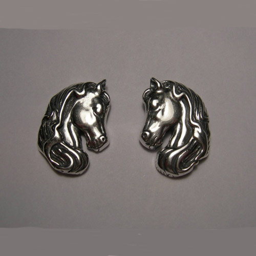 Sterling Silver horsehead post earrings