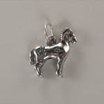 Side of Sterling Silver Indian Pony charm/pendant