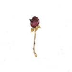 14 kt.y.g. garnet and diamond brooch