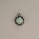 Sterling Silver Synthetic Opal Pendant