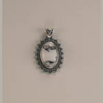 Sterling Silver Howlite pendant