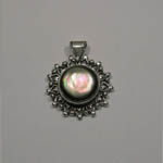 Sterling Silver Black Mother of Pearl pendant