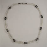 Sterling SIlver link horse choker necklace