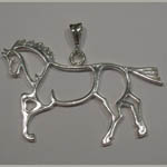 Sterling Silver abstract horse pendant