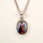 Sterling Silver enamel Affirmed necklace