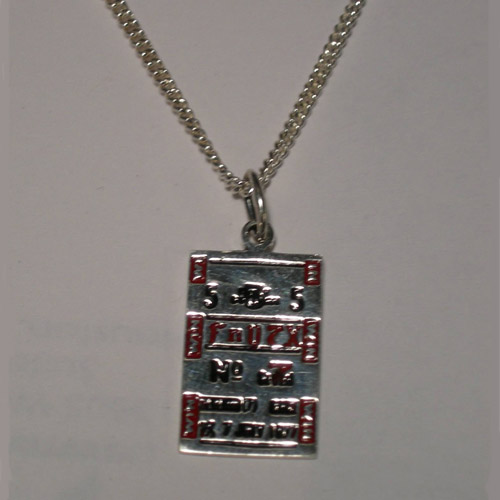 Sterling Silver race horse betting ticket necklace
