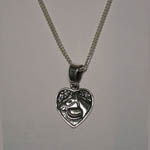 Sterling Silver horse head in heart necklace