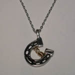 Sterling Silver Wish Rings horseshoe necklace