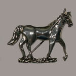Sterling Silver walking horse brooch