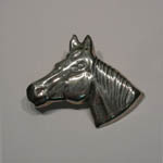 Sterling Silver Quarter Horse head brooch