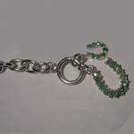 close up of clasp end of horseshoe bracelet