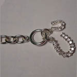 Sterling Silver clasp end of Cubic Zirconia horseshoe bracelet