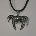 Sterling Silver horse fetish style necklace