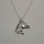 Sterling Silver horse head necklace