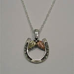 Black Hills Gold Sterling Silver horseshoe necklace