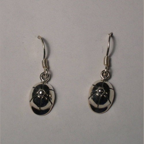 Sterling Silver English riding helmet earrings