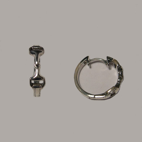 Sterling Silver snaffle bit hoop earrings