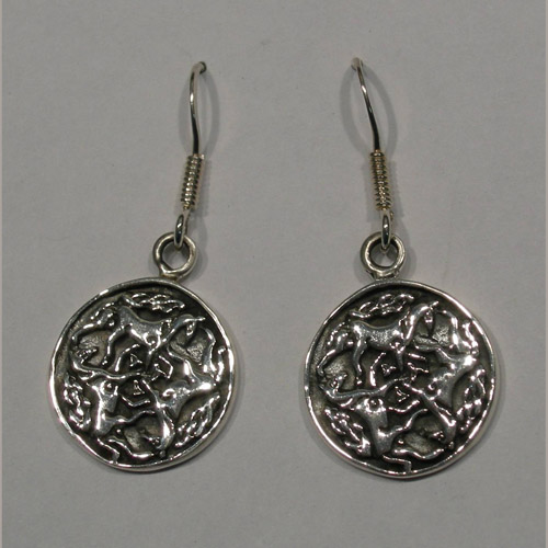 Sterling Silver Celtic horse knot earrings