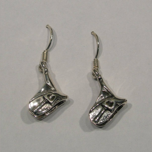 Sterling Silver Dressage saddle earrings