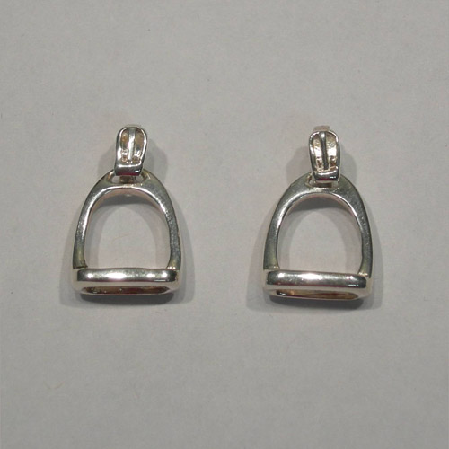 Sterling Silver English stirrup post earrings