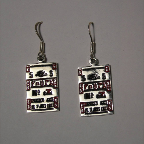 Sterling Silver lucky tickets earrings