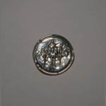 Sterling Silver horse and carriage in circular pin/pendant