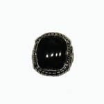 Sterling Silver unisex Black Onyx ring