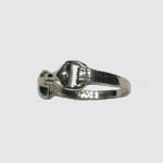 side of Sterling Silver snaffle bit ring
