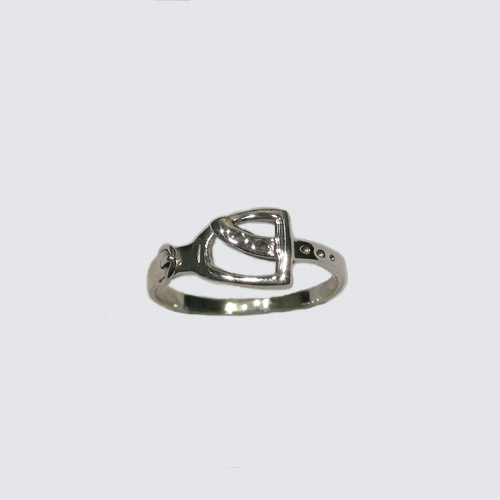 Sterling Silver English stirrup ring