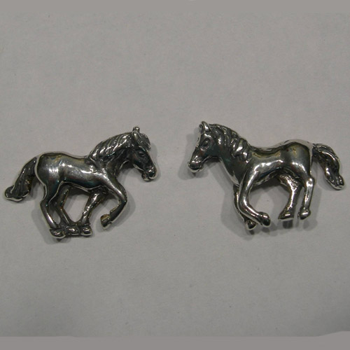 Sterling Silver galloping horses post earrings