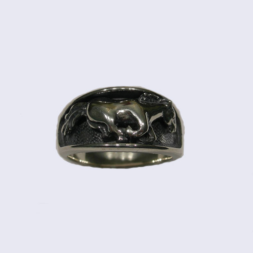 Sterling Silver galloping horse ring