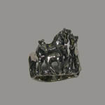 Sterling Silver horse herd ring