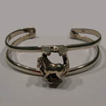 side of horse inside horseshoe cuff bracelet
