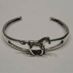 side of trotting horse cuff bracelet
