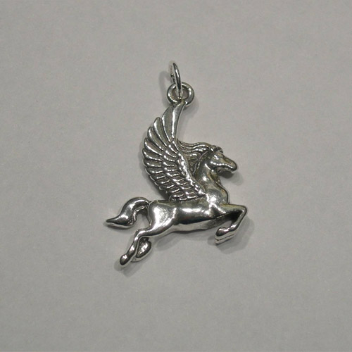 Sterling Silver flying Pegasus charm/pendant