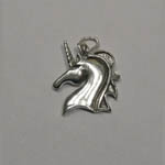 Sterling Silver unicorn head pendant