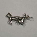 Sterling Silver 3 D Standardbred racehorse charm/pendant