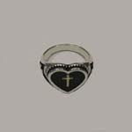 different view of cross in heart ring