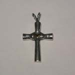 Sterling Silver and gold Claddagh cross pendant