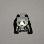 Sterling Silver and enamel Giant Panda pin