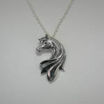 Sterling Silver Arabian Horse Head necklace