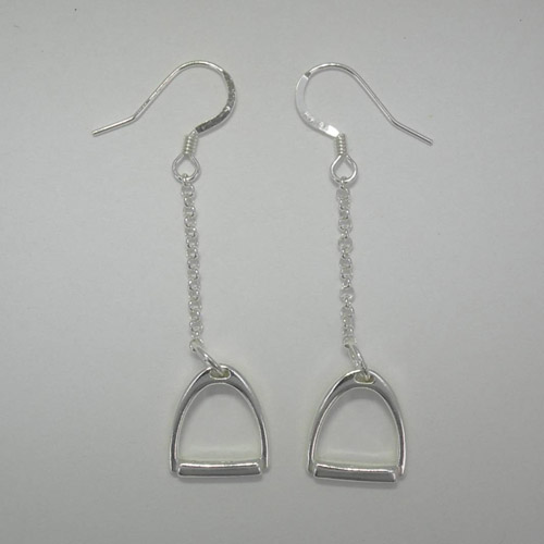Sterling Silver dangle stirrup earrings