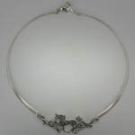 Sterling Silver horse choker necklace